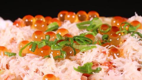 三色丼(鮭、かに、いくら丼) ビデオ