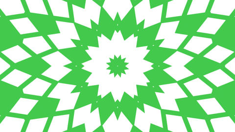 Multicolored motion graphics background with Kaleidoscope seamless loop Animation