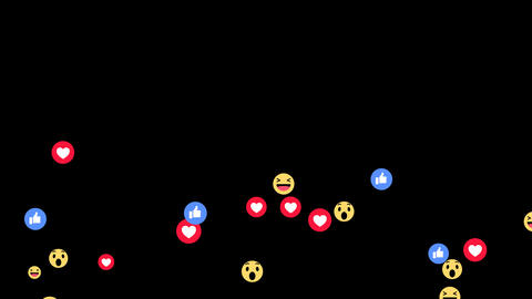 Facebook Live Reactions Animation