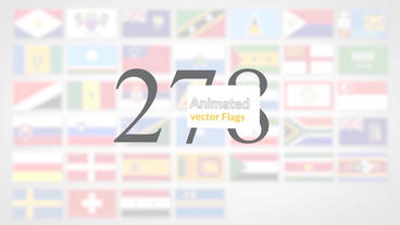 Animated Flag Icons After Effectsテンプレート