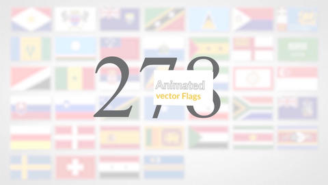 Animated Flag Icons After Effects Template