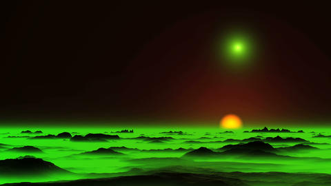 Glowing Objects (UFO) and Green Mist GIF