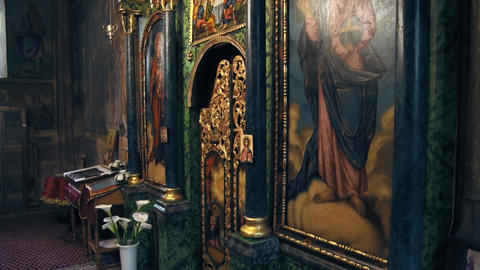 Interior of the Orthodox Church Stock Video Footage