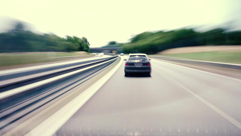 Driving on German highway A60 Footage