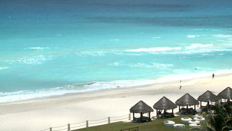 Cancun beach during the sunny summer day Live Action
