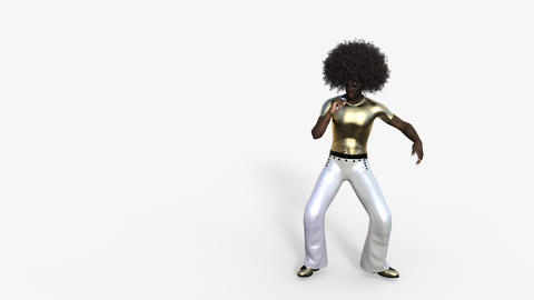 Singer African Sings Into the Microphone Animation