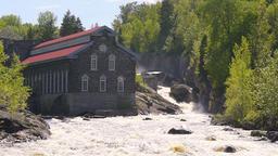 La Pulperie de Chicoutimi Regional Museum Pulp mill in Saguenay, Quebec, Canada ビデオ