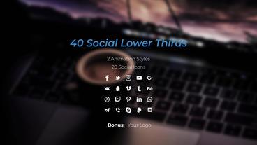 Social Lower Thirds Plantilla de After Effects