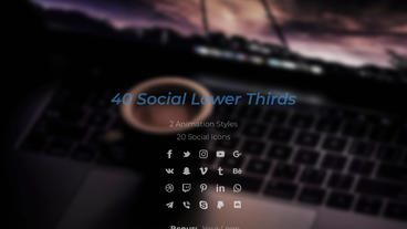 Social Lower Thirds After Effectsテンプレート