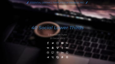 Social Lower Thirds Motion Graphics Template