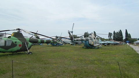 Civil and military aircraft, helicopters in detail Live Action