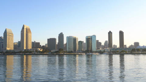 City of San Diego at dawn panorama Live Action