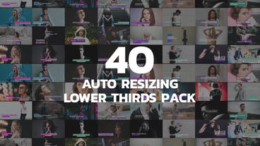 Auto Resize Lower Thirds VH Motion Graphics Template