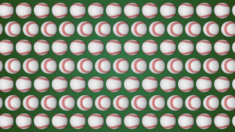 Baseball ball american sport green background pattern Animation