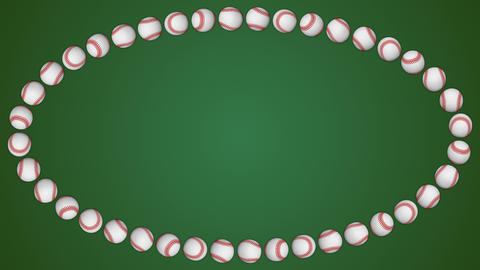 Baseball ball american sport green border frame background GIF