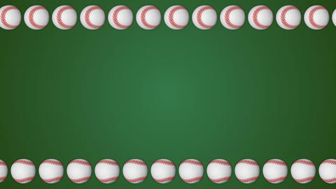 Baseball ball american sport green border frame background pattern Animation