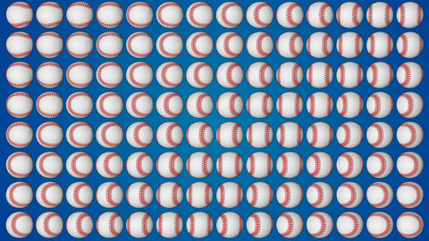 Baseball ball american sport red background pattern Animation
