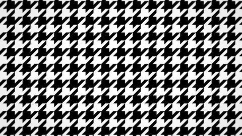 千鳥格子のモーショングラフィックス(ループ可能)-白黒 CG動画