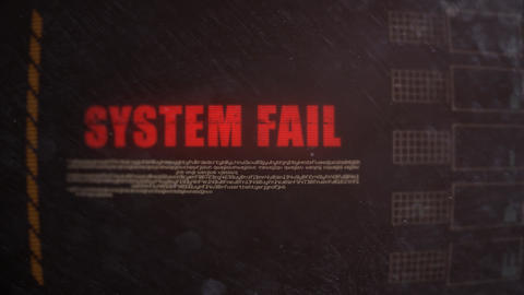 System Fail Signal Alert on an Old Dirty Screen Footage