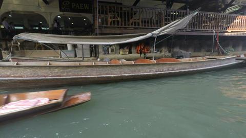 Floating Market stock footage