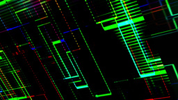 Led Illuminated Diagonal Fractal Lines Running Background Animation