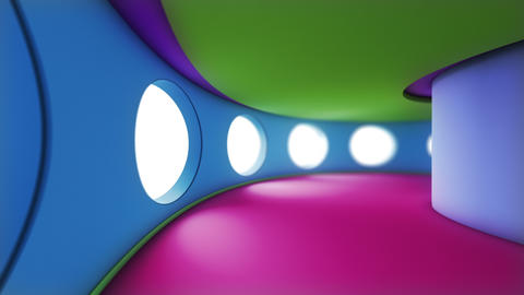 3D loopable animation of a colorful tunnel. Ideal for background Animation