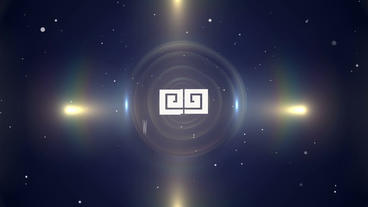 Dark Spinning Corporate Glossy Logo Folder stock footage