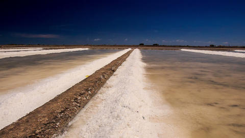 Panorama of Endless Vaporized Salt Fields Live Action