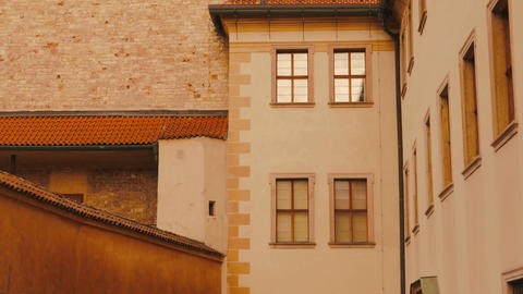 Detail of a Tower in Castle in Prague, Czech Republic (Czechia) Footage