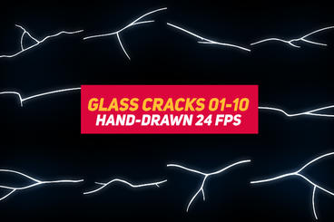 Liquid Elements 3 Glass Cracks 01-10 After Effectsテンプレート