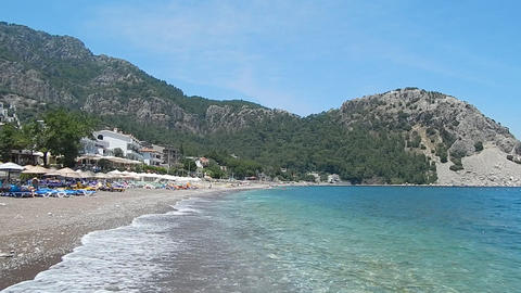 Tourism in Marmaris resort in Turkey nature and texture Footage