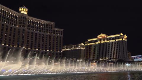 Fountains show in Las Vegas. Bellagio Hotel ビデオ