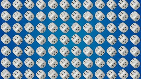 Dice cubes casino gambling blue background GIF