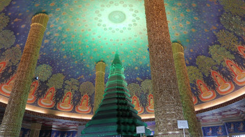 Wat Paknam Green Crystal Pagoda 1 Footage