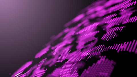 abstract Purple shape and light particles in organic motion Footage