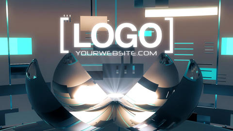 Techy Logo Reveal Light After Effects Template