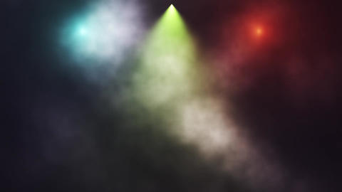 Colorful Stage Lights and Smoke Intro Logo Background Animation