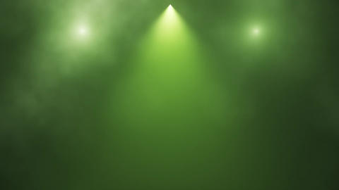 Green Stage Lights and Smoke Intro Logo Background Animation