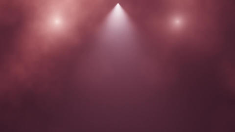 Red Bluish Stage Lights and Smoke Intro Logo Background Animation