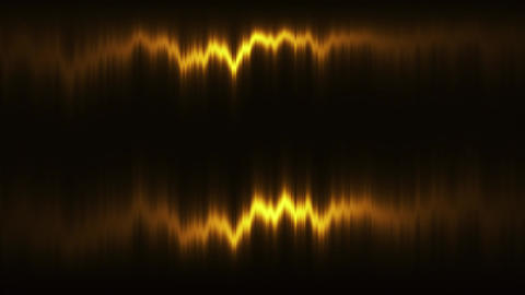 Gold Vertical Distortion of Light VJ Loop Motion Background Animation