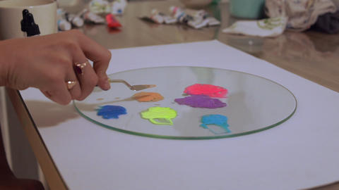 Preparation of colors before painting Live Action