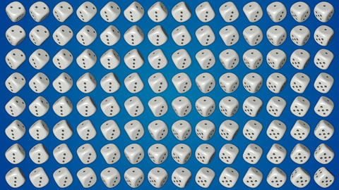 Dice cubes casino gambling blue background Stock Video Footage