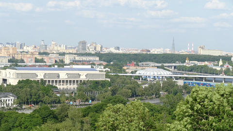Panorama of Moscow and Luzhniki stadium in summer 2018 Footage