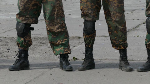 Legs of the military Footage