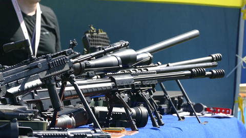 automatic weapons at the fair Live Action