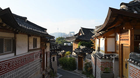 Seoul City,Bukchon Hanok Village, Seoul, South Korea Live Action