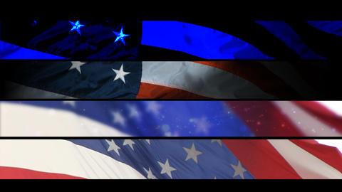 [alt video] Lower Third - USA Flags Volume 1