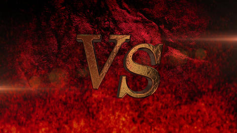 VS title animation logo letter fire ignition match Animation