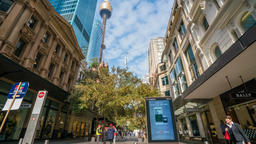 4k timelapse video of shopping precinct in Sydney, Australia Footage