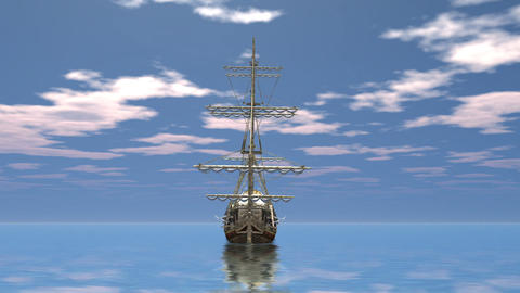 Sailing ship CG動画